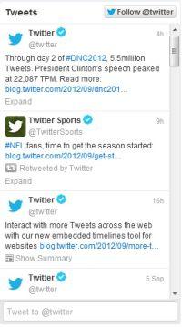 Sitenize Twitter zaman akışı, embedded timeline ekleme.